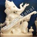 Sitar Playing Ganesha Marble Statue