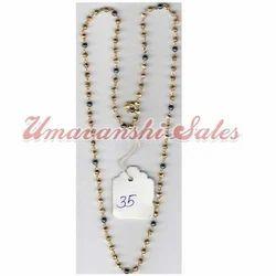 Golden Polish Beads Mala