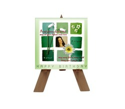 Custom Printed Wooden Easel Ceramic Tile