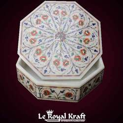 Marble Inlay Jewel Box