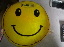 Smiley Pillow With Brand