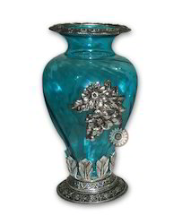 Metal Glass Vase