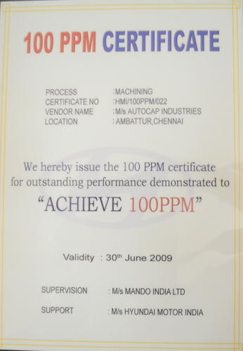 Autocap Industries - Manufacturer from Ambattur, India | Know Us