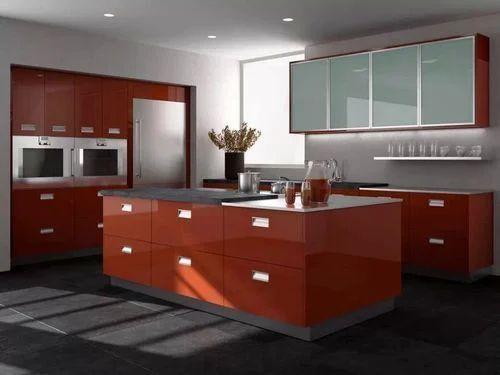 Pu Paint Finish Modular Kitchen