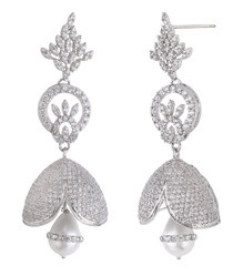 925 Sterling Sliver Jhumka Earrings