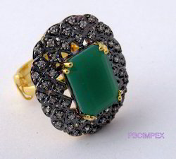 Cubic Zirconia Color Stone Rings