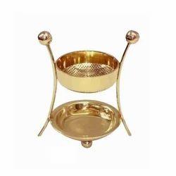 Golden Brass Incense Burner
