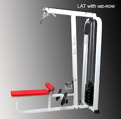 Lat Machine With Mid Rowing