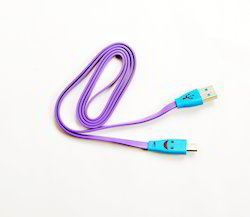 Purple Smiley Data Cable