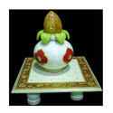 Decorative Marble Chowki With Kalash