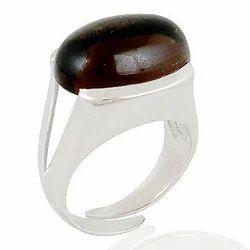 Smoky Silver Men's Ring
