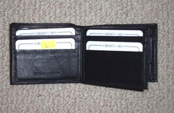 AAHIL Natural leather Black Leather Wallets