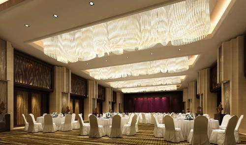 Banquet Hall Interior Design In Sidco Industrial Estate
