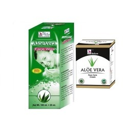 Aloe Vera Face Wash With Aloe Vera Face Care Cream