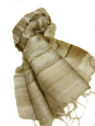 Raw Tussah Silk Handloom Stole