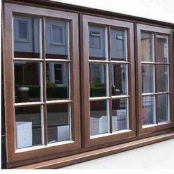 2 To 4 Feet Light Oak Pin UPVC Window