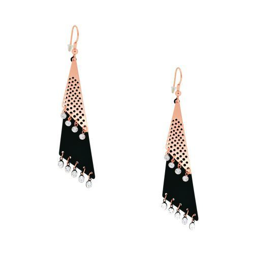 Spargz Designer Cone Shape Fashion Earring - Art India CZ