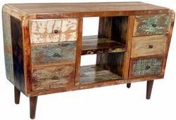 Reclaimed wood TV Unit