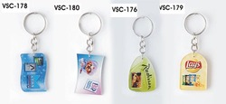 Clear Plastic Key Rings