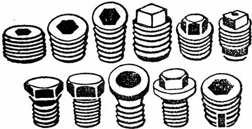 BSP, BSPT, NPT, NPTF, Tapper Plugs, Sq  & Hex Head Plugs, - Royal