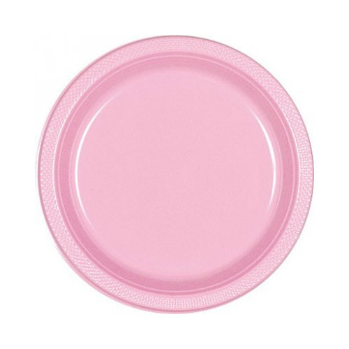 Amscan Solid Tableware New Pink 9 In Plastic Plates - Party In A Box ...