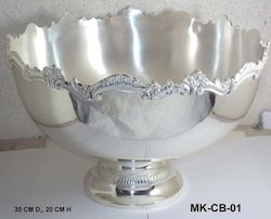 Brass Silver Plated Champagne Bowl