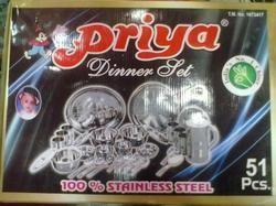 Priya 51 Pcs SS Dinner Set