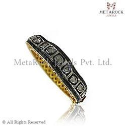 Polki Diamond Rose Cut Diamond Bangle
