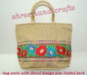 Bag Antic With Floral Design