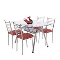 4 Seater Stainless Steel Dining Set