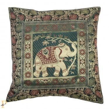0fade5f52d66 Brocade Elephant Green Cushion Cover at Rs 239  piece