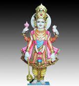 Golden Swami Narayan Statue