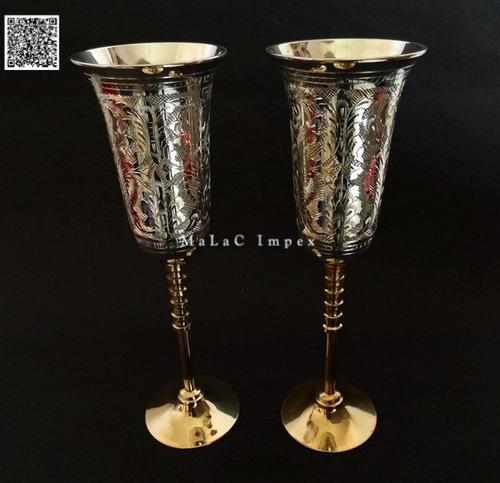 Gold and Silver Plated Goblet