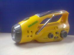 Solar Charged - Flashlight Radio