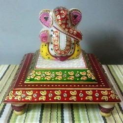 Marble Double Chowki Ganesh