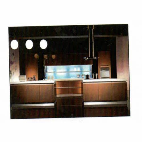 Designer L Shaped Modular Kitchen At Rs 2500 Square Feet: Powder Coated Steel Modular Kitchen
