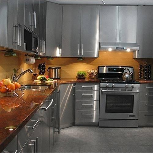 Stainless Steel Modular Kitchen Cabinets: Stainless Steel Modular Kitchen