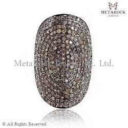 Pave Diamond Knuckle Ring