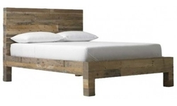 Wooden Natural Finish Single Bed