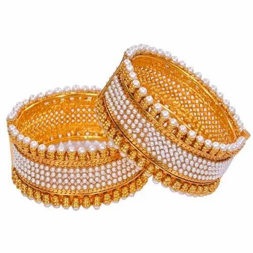 designer pearl gold bangle rifah jewellers pvt ltd