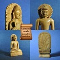 Komoli Brown Hand Carved Wooden Buddha, 12 Mm, Size/dimension: 5 Inch