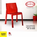 Surprise Red Plastic Lounge Chairs