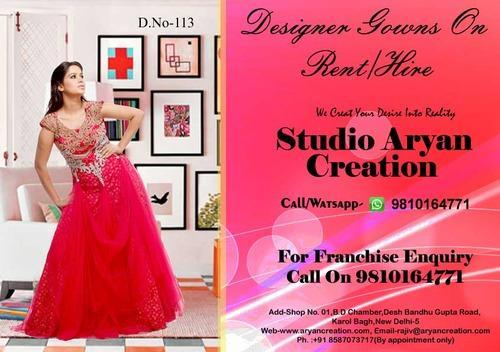 Designer Evening Gowns | Aryan Creation | Retailer in Karol Bagh ...