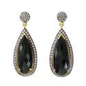 Black Onyx Pave Set Gemstone Earrings