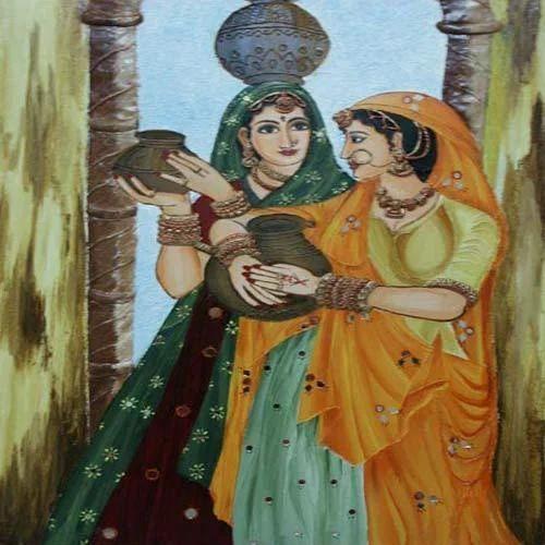 Rajasthani Village Women Painting