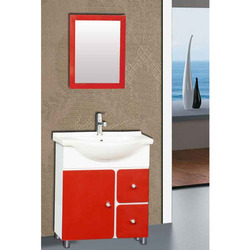 red white floor mounted vanities cabinets