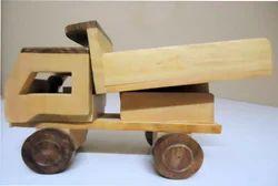 Light Brown Wooden Loader Truck Toy, for   kids