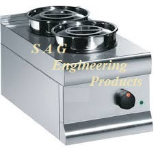 2 Round Compartment Bain Marie
