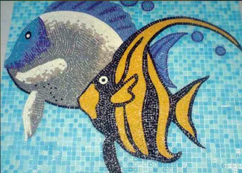 Gl Mosaic Tiles Fish Design 0 5 Mm 10
