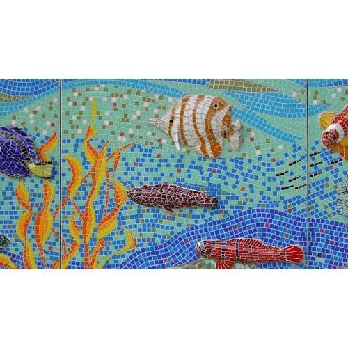 Aquarium Glass Mosaic Tiles